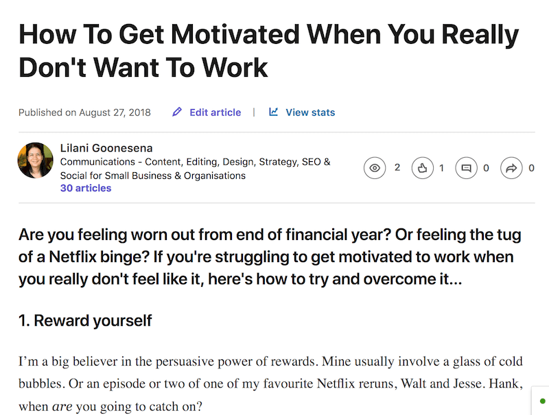 lilanigoonesena-linkedin-post-motivated-don't-want-work.png