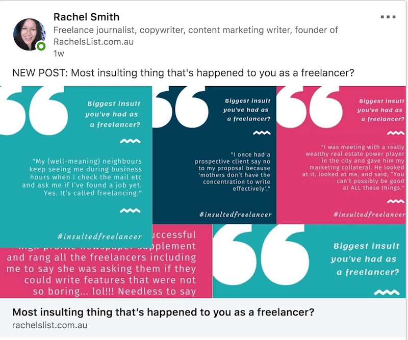 rachelslist-linkedin-post-insulting-freelancers.png