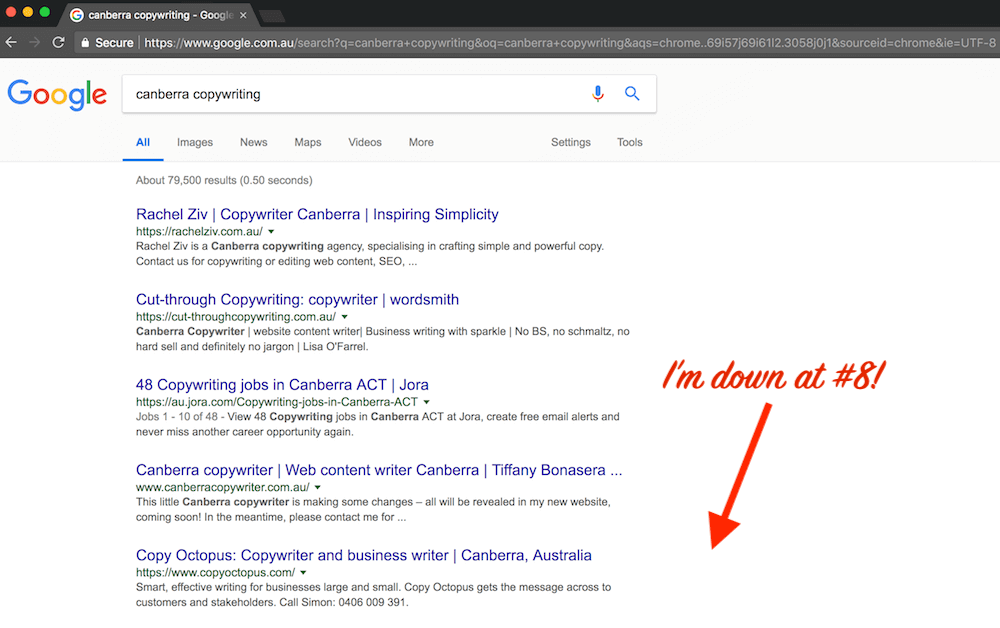 lilanigoonesena-canberra-copywriter-google-results.png