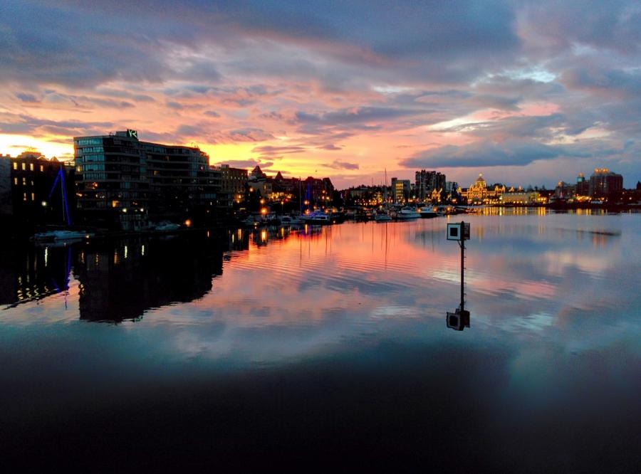 Sunset view from the Johnson Street Bridge