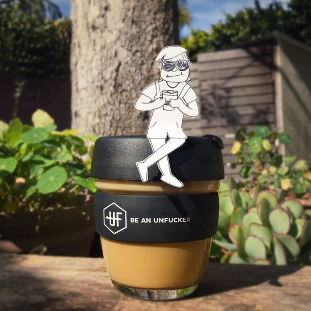 They're back! We all know the drill. Disposable coffee cups are shit. Get yourself one of these eco sexy reusable cups and help us take unfuckery to the streets. ⬆️Buy one via our bio. ☕️😎 . . . . #beanunfucker #reusablecoffeecup #waronwaste #coffee #makeitahabit #ditchdisposables #changeonething
