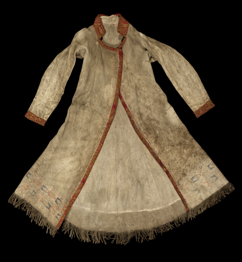 The Pitt Rivers Museum Long Hide Coat,  1906.83.1 . Photograph provided by the Pitt Rivers Museum.