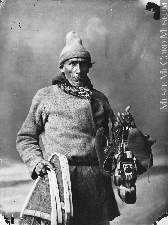 William Notman (1826-1891),  Aboriginal person with objects to sell, Montreal, QC, 1866 . Image courtesy of the  McCord Museum .