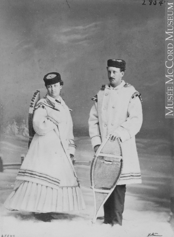 William Notman (1826-1891),  Miss M. Livingston and Mr. Fox, Montreal, QC, 1867 . Image courtesy of the  McCord Museum .