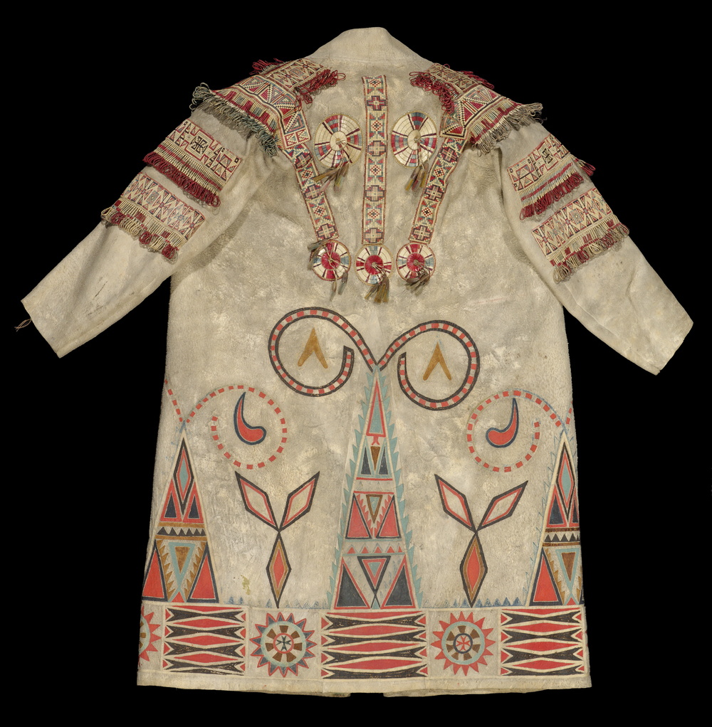 Back view of the Pitt Rivers Museum Metis Coat,  1951.2.19 . Image courtesy of the  Pitt Rivers Museum .