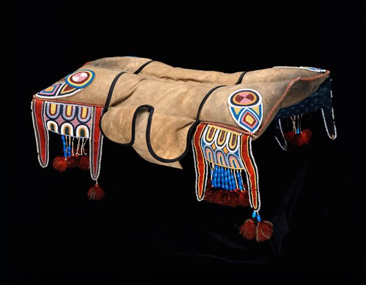 Pad saddle, northern Plains, ca. 1859. Royal Alberta Museum.