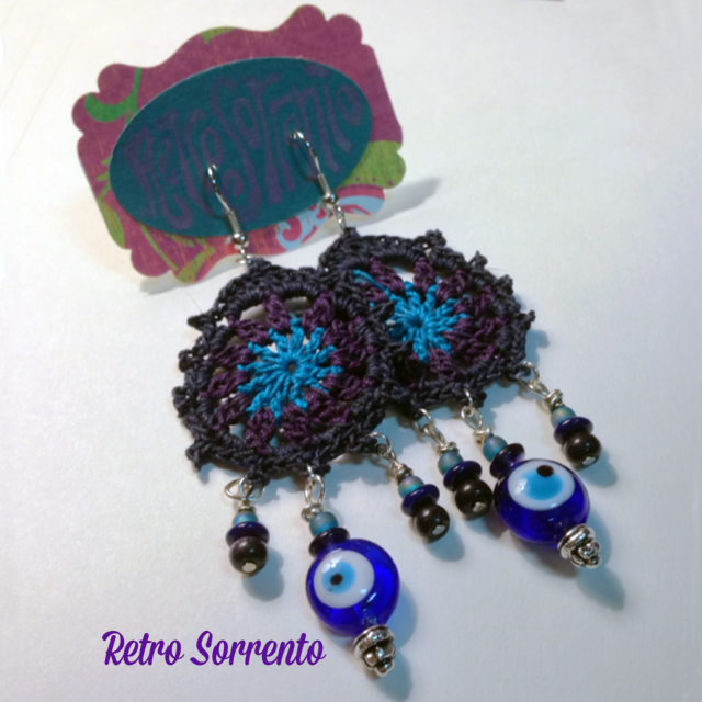 Evil Eye Chandelier earrings $24