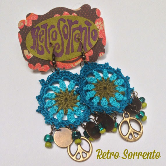 Peace sign earrings $26