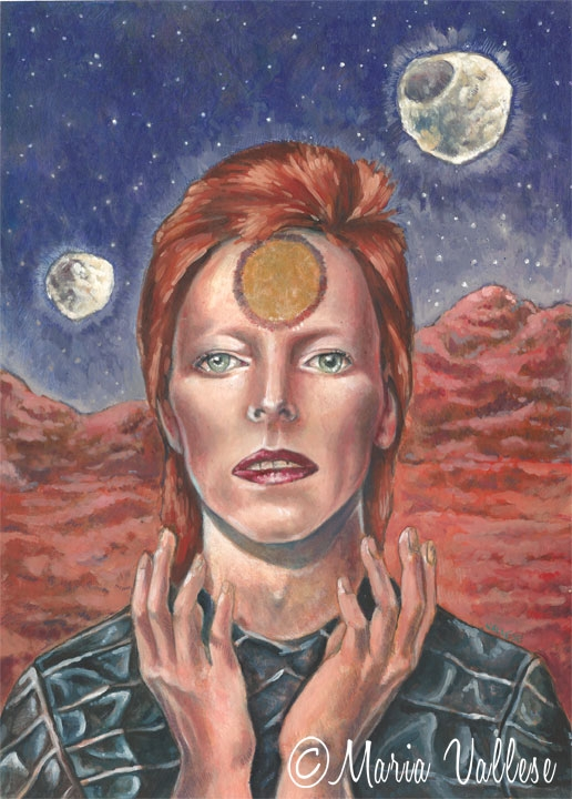David Bowie Illustration by Retro Sorrento
