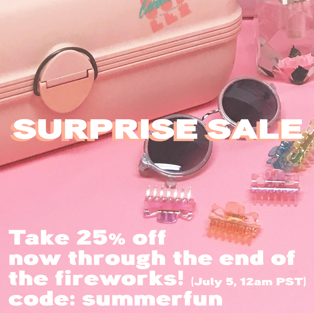 TAKE 25% OFF NOW UNTIL THE FIREWORKS ARE OVER! CODE: SUMMERFUN - exclusive to the Etsy shop - ends July 5, 12am pst