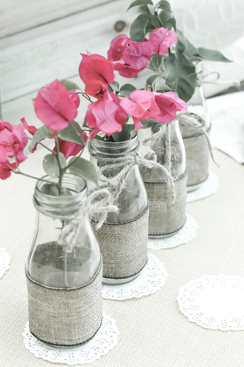 Blog the party preppers diy recycle glass bottles into flower vases reviewsmspy