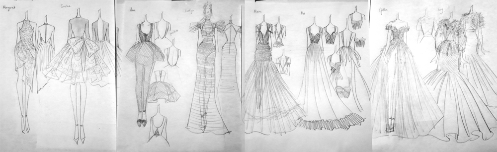 Semi-finalized collection sketches.