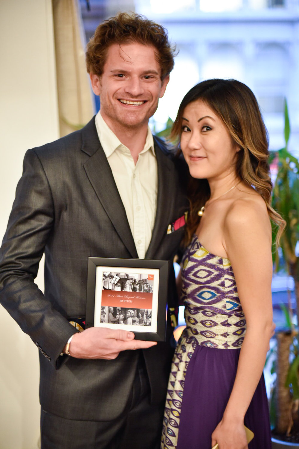 JD Stier and Kaori Fujii at Music Beyond's Third Annual Gala