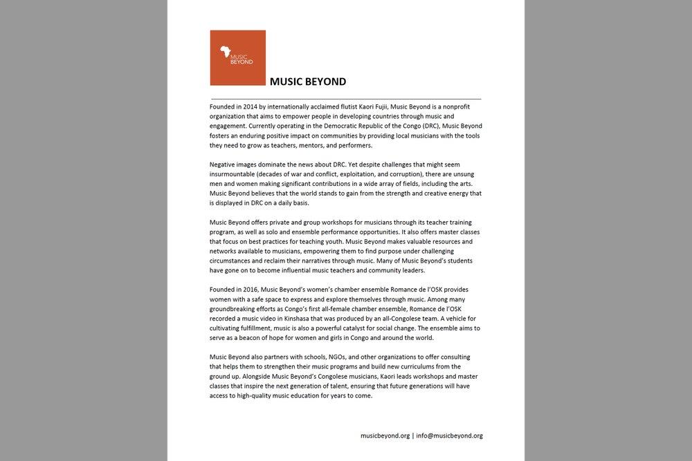 Music Beyond - Biography