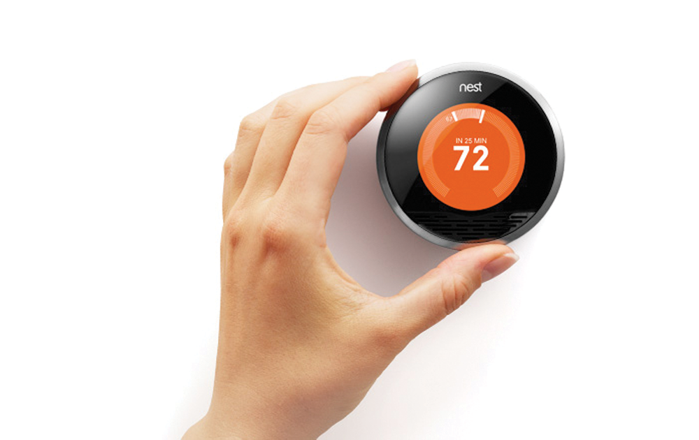 The Nest Thermostat learns what temperature you like, then optimises for energy efficiency.