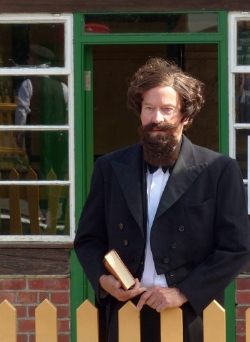 Kevin Wilson as Charles Dickens: Storyteller - at the Victorian Weekend at Isle of Wight Steam Railway: August 1 and 2 2015.