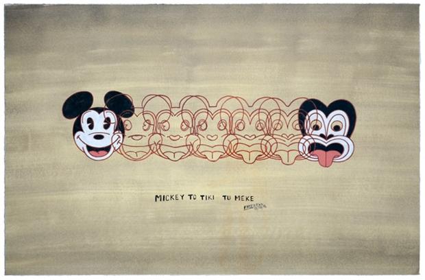 'Mickey To Tiki Tu Meke' by Dick Frizzell