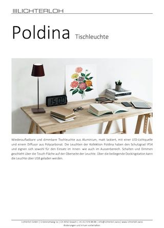 Broschüre Poldina
