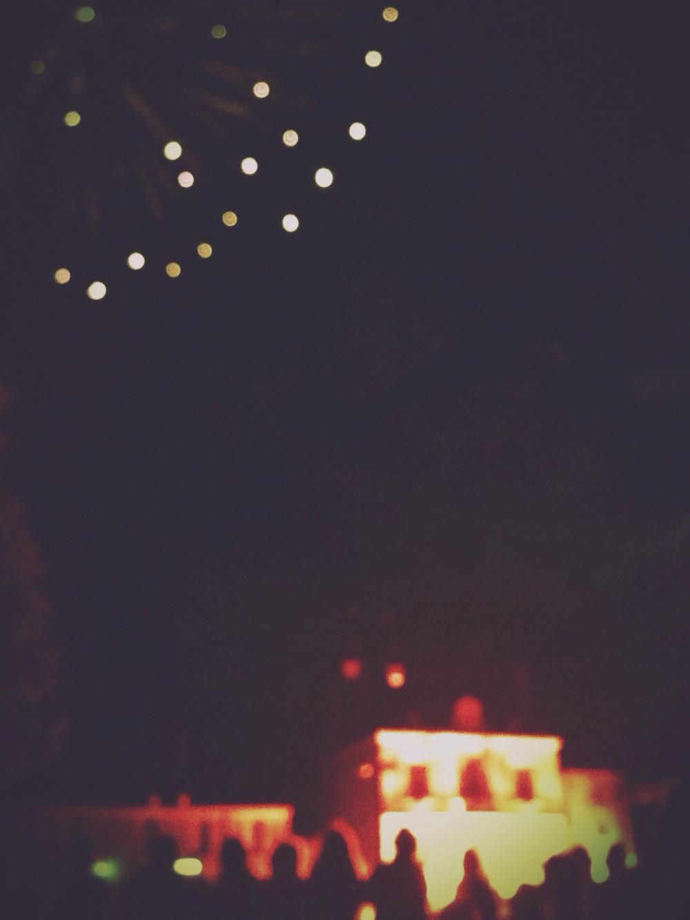 Fireworks in Argenton.