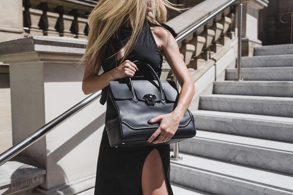 VERSACE  PALAZZO EMPIRE BAG  — Miranda Emblem — Makeup Artistry fa7db88546977