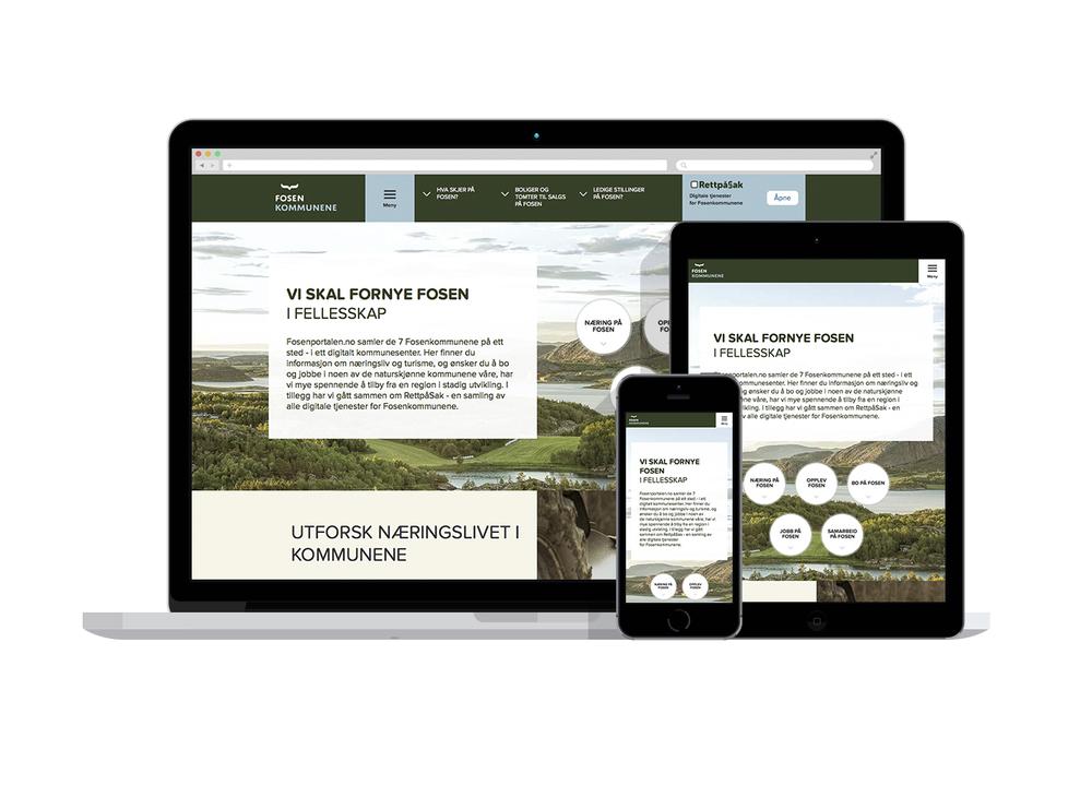 Nye responsive og moderne nettsider -  www.fosen.net