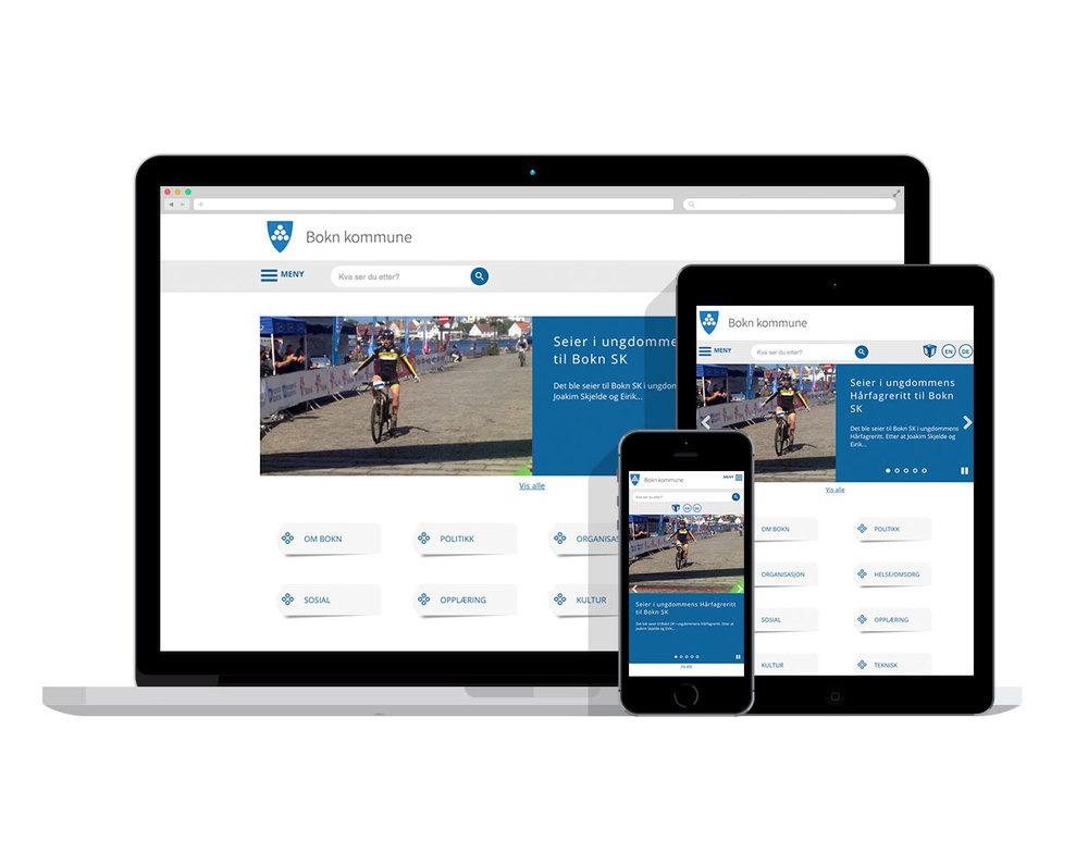 Nye moderne og responsive nettsider -  www.bokn.kommune.no