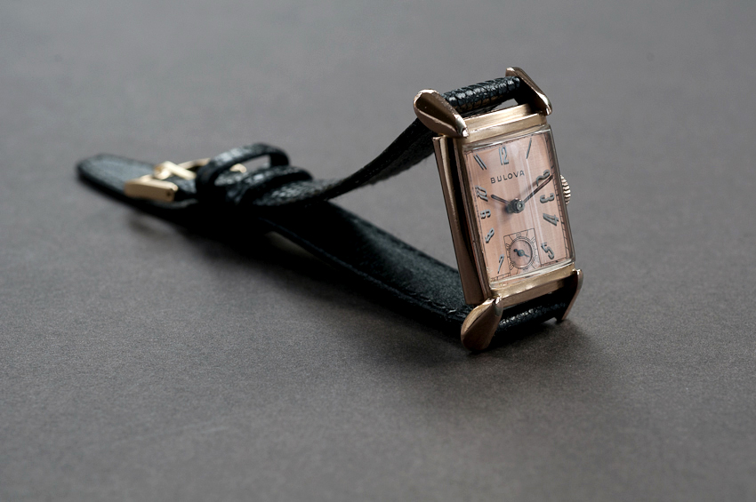 1936 Bulova 14K Rose Gold Art Deco