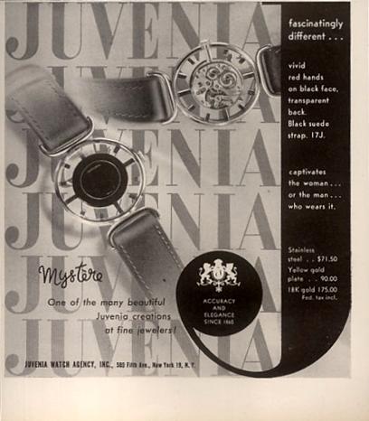 Juvenia  Mystère  period advertisement