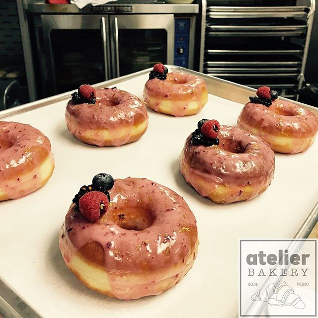 FREE samples 🍩🤤❤️ (just testing different glazes) . .  Atelier Bakery 8am until 2pm Tuesday through Sunday (always closed on Mondays) . . #freesample #doughnut #yesplease #dontmindifido #france #paris #cruffin #bestintown #traditional #theatre #best #croissant #onlyatatelier #wsnc #winstagram #dailyphoto #winstonsalem #myws #downtown #downtownwinston #foodie #shoplocal #sweet #delicious #desserts #love #beautiful #food #yummy #photooftheday