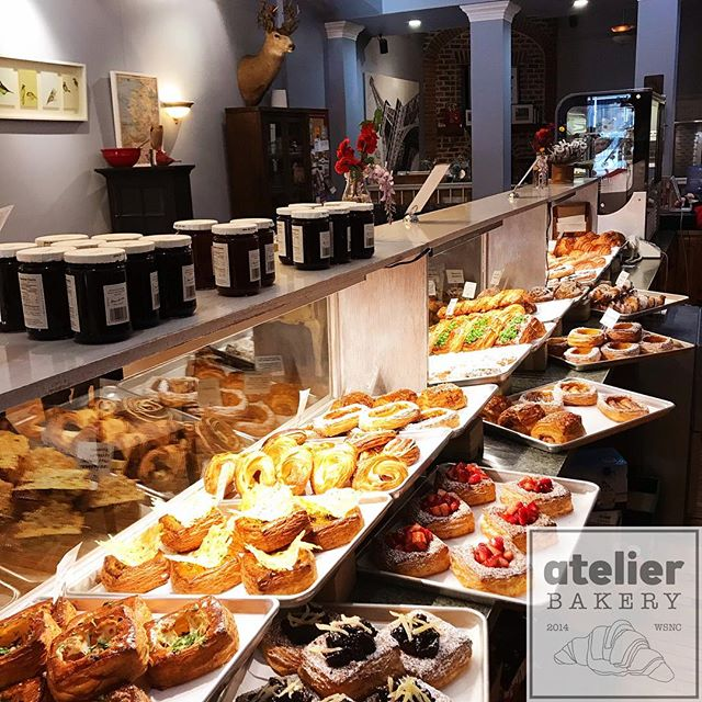 Right now ... 8:15am on Wednesday! 😍 (Come and see us!) . .  Atelier Bakery 8am until 2pm Tuesday through Sunday (always closed on Mondays) . . #readytoroll #wellstocked #opennow #buffet #france #paris #cruffin #bestintown #traditional #theatre #best #croissant #onlyatatelier #wsnc #winstagram #dailyphoto #winstonsalem #myws #downtown #downtownwinston #foodie #shoplocal #sweet #delicious #desserts #love #beautiful #food #yummy #photooftheday