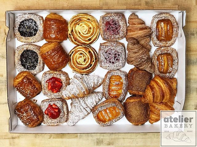 Atelier Pastry Assortment (making morning meetings manageable) . .  When you want to ensure people are on time for your company's meeting ... reach out to us first 😉 . . . . . . . . . . . . . . . Atelier Bakery open at 8am on Saturdays until we sell out . . #pastryassortment #amazingvariety #enjoyyourday #unique #morningmeeting #wearethankful #unbelievable #bestintown #traditional #freshfruit #best #croissant #onlyatatelier #wsnc #winstagram #dailyphoto #winstonsalem #myws #downtown #downtownwinston #foodie #shoplocal #sweet #delicious #desserts #love #beautiful #food #yummy #photooftheday