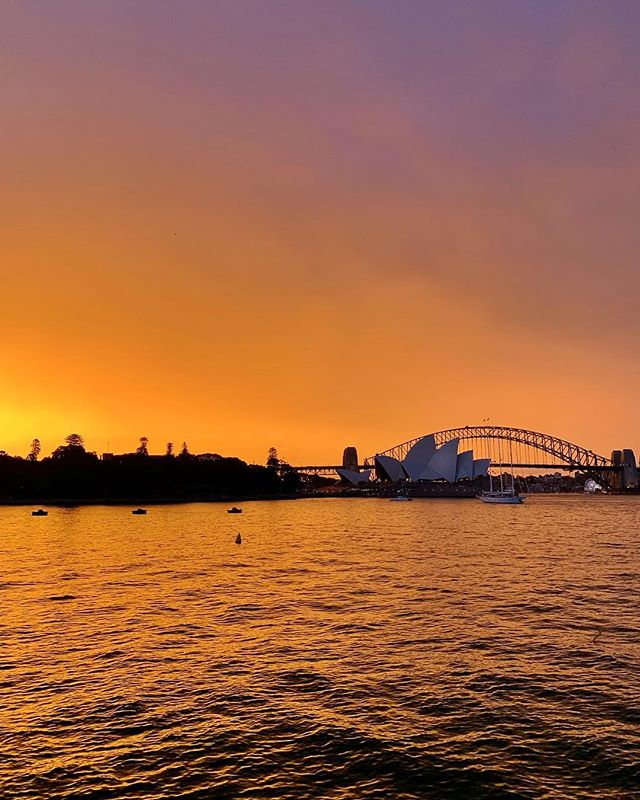 The backdrop for last night's opening of West Side Story on Sydney Harbour was pretty special ✨ @westsidestoryau @operaaustralia