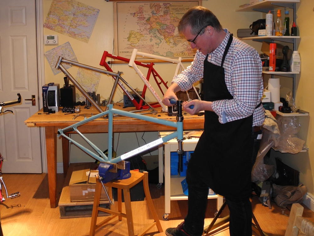 Richard Delacour, head bicycle builder for Oxford Bike Works