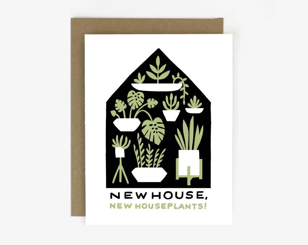 Houseplants Housewarming Card