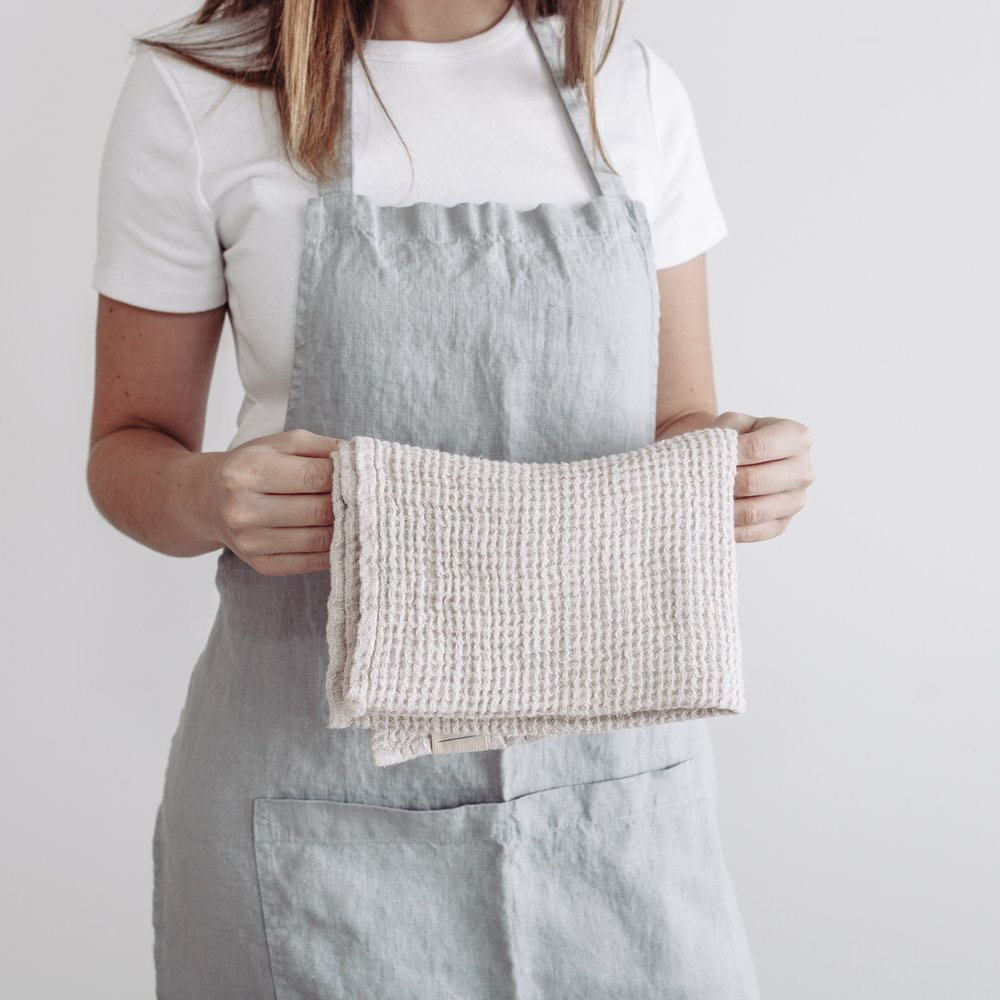 Linen waffle drying clothes