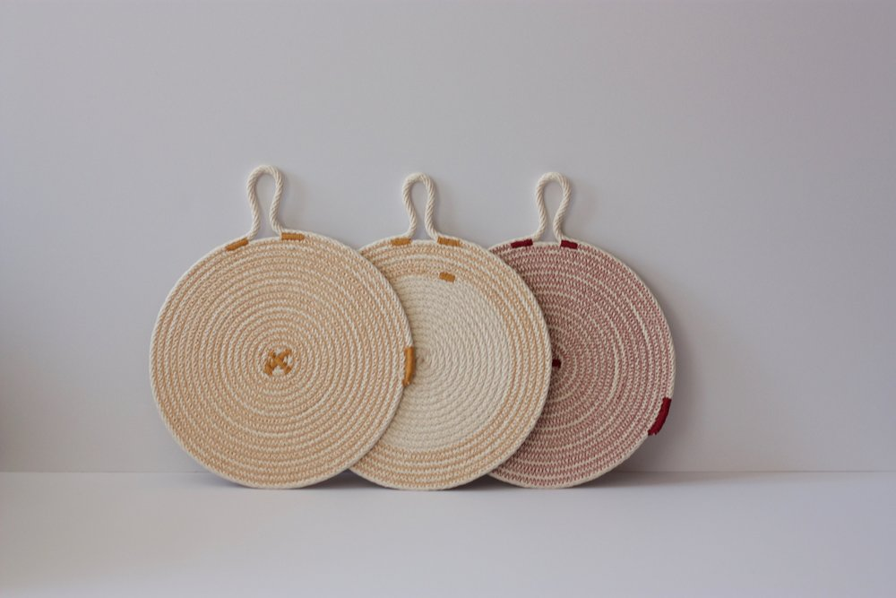 Cotton Rope Trivet | Coffee Pot Trivet | Coaster | Hot Pad