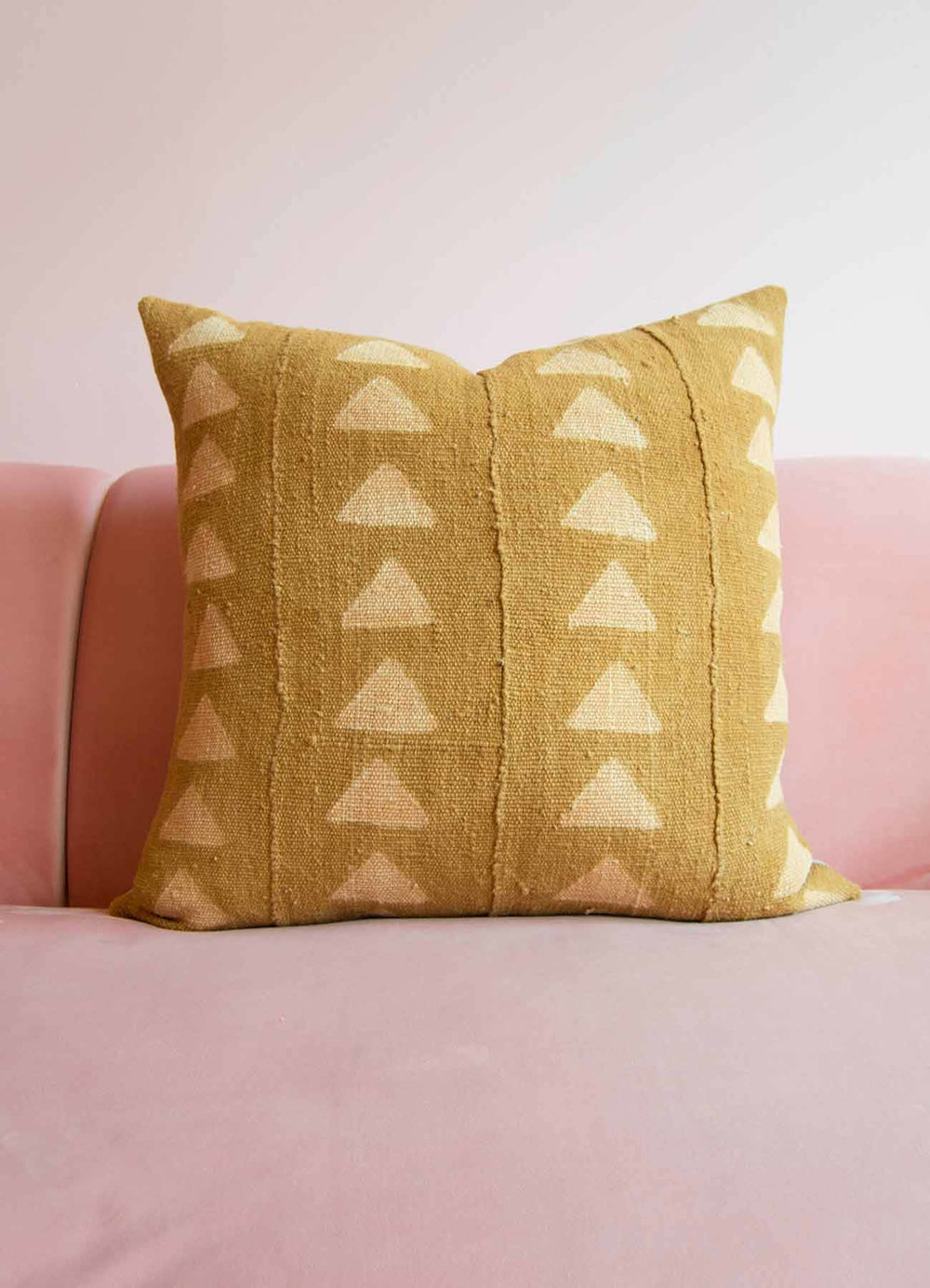 Gold Mudcloth Pillow