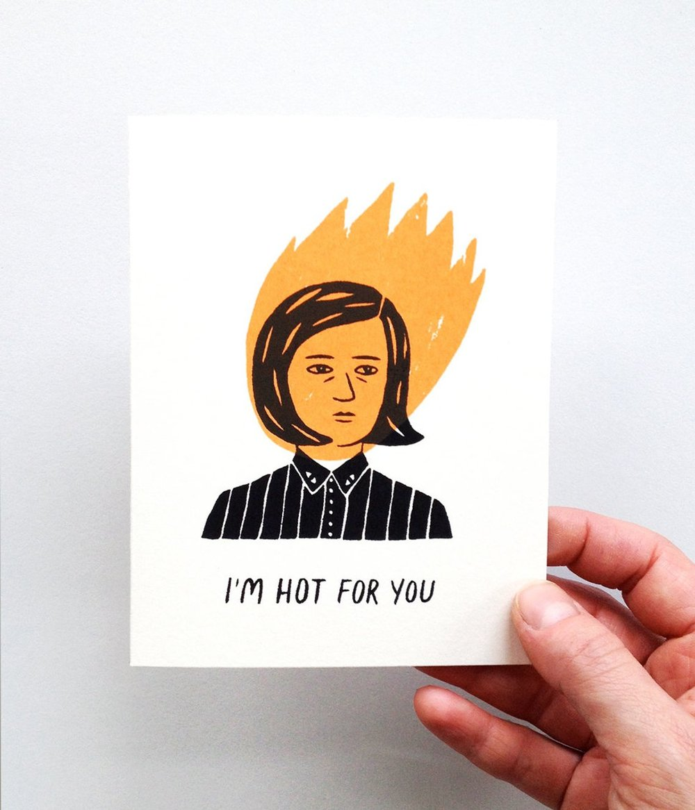 I'm Hot For You Card