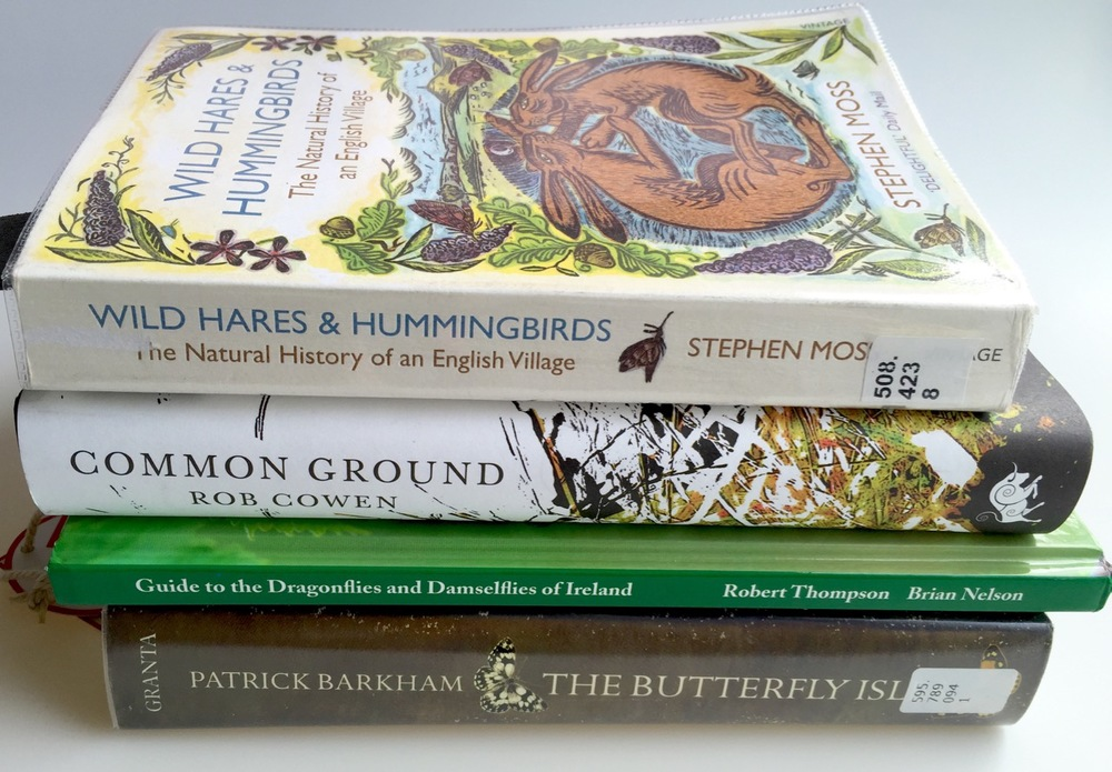 Nature books, butterflies, damselflies, hares, humminbird moths, Brian Nelson, Robert Thompson, Rob Cowen, Patrick Barkham, Stephnen Moss