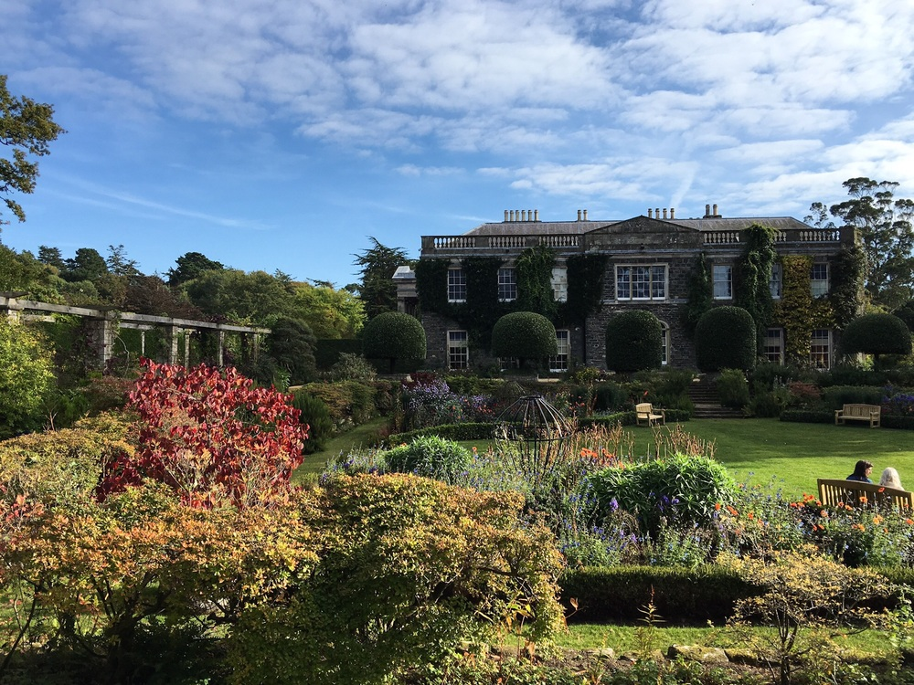 18th century Mount Stewart house and garden on an October afternoon