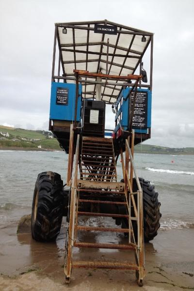 Sea Tractor to Burgh Island, Devon, very Agatha Christie
