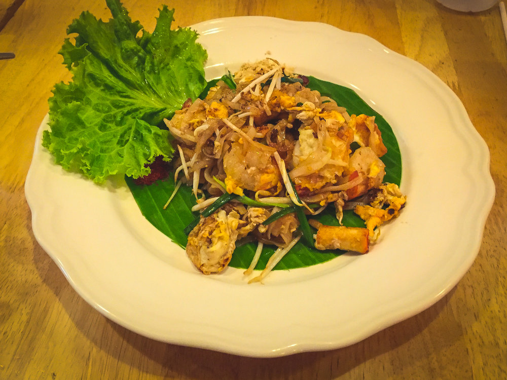 Shrim Pad Thai, one of Thai cuisine´s favourites.