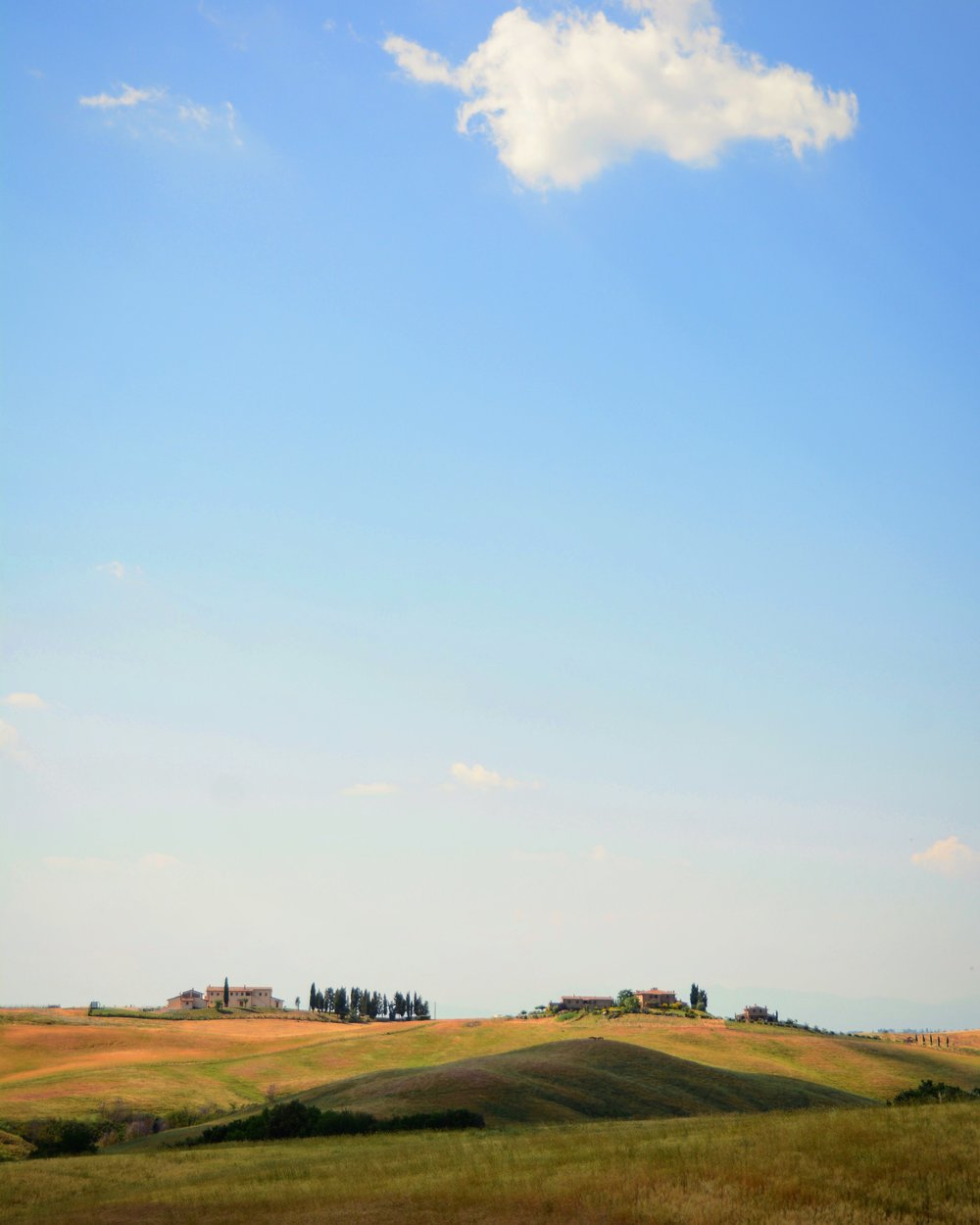 Val d'Orcia's silence.