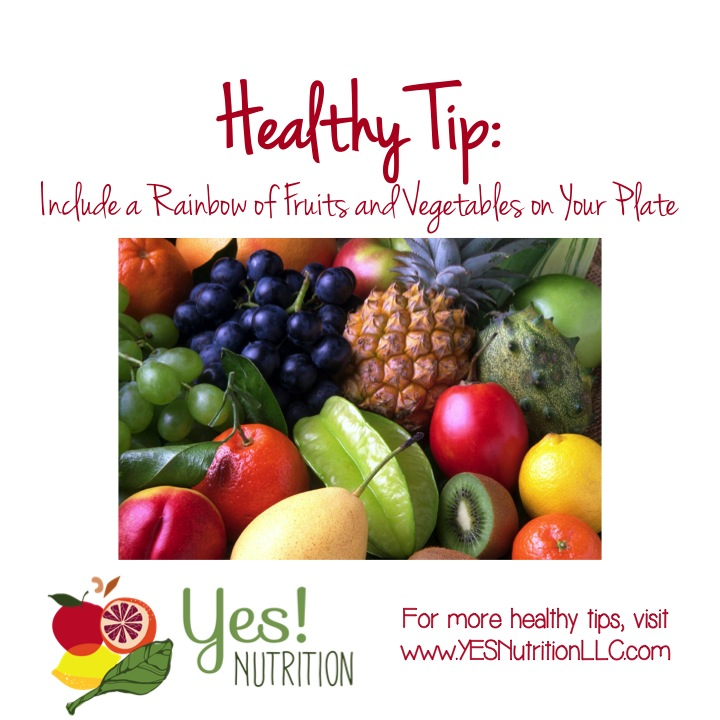 healthy tips rainbow of fruits and vegetables