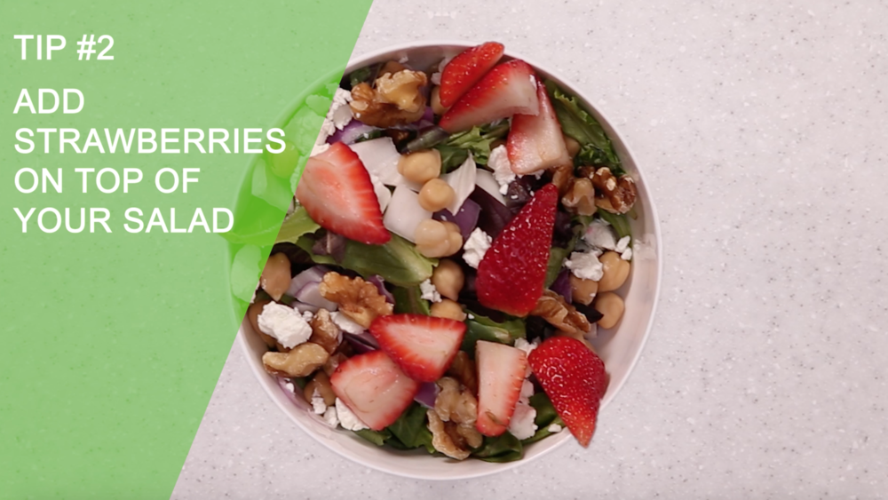 Add Strawberries On Top Of Your Salad | Easy Healthy Creative Ways to Eat Strawberries | YES! Nutrition, LLC