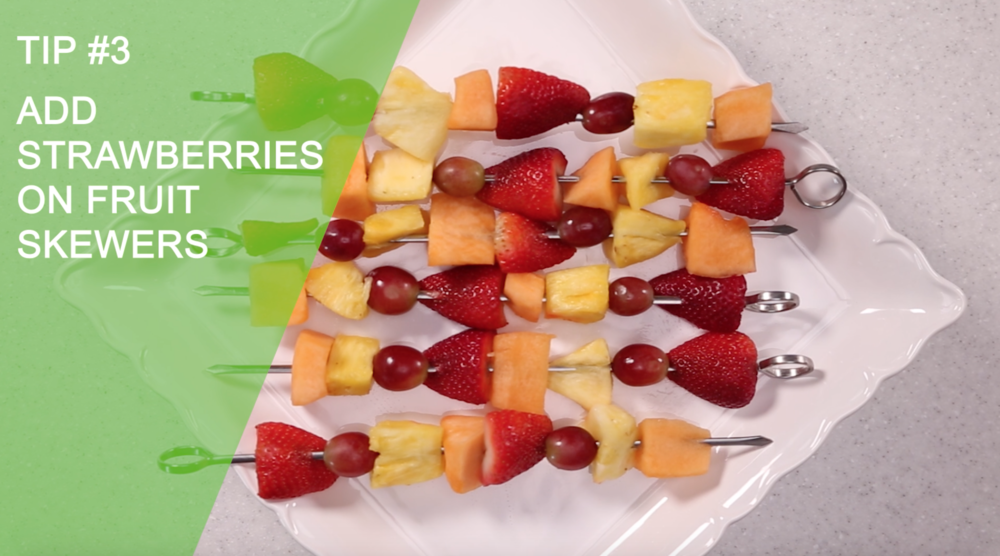 Add Strawberries To Fruit Skewers | Easy Healthy Creative Ways to Eat Strawberries | YES! Nutrition, LLC