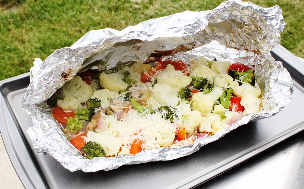 Easy, Healthy Grilled Vegetables with Parmesan Cheese