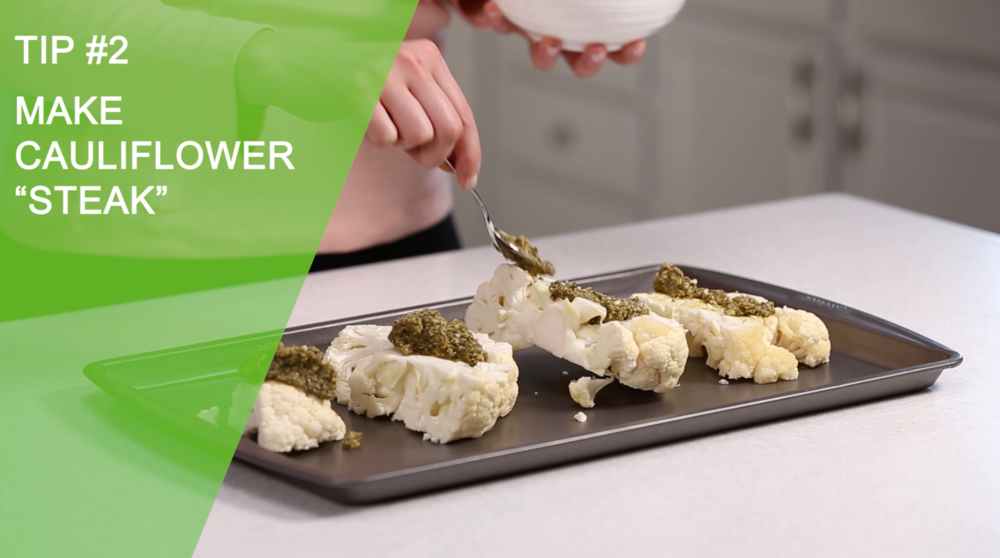 Make Cauliflower Steak | 3 Healthy Recipes with Cauliflower | YES! Nutrition, LLC