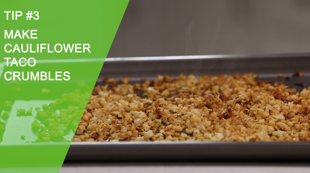 Cauliflower Taco Crumbles | 3 Healthy Recipes with Cauliflower | YES! Nutrition, LLC