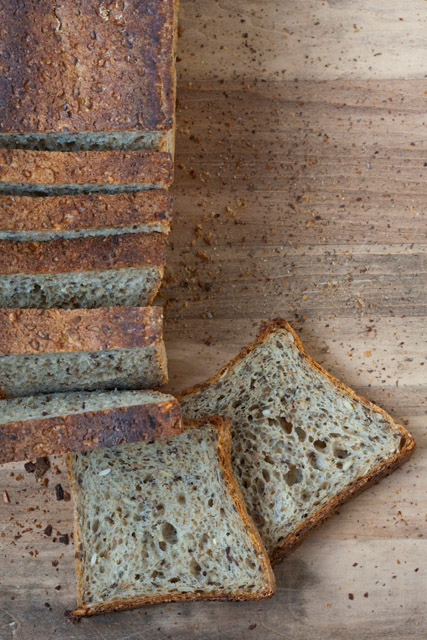 MULTIGRANI PULLMAN LOAF   Our multigrain bread is made with a combination of whole wheat and rye flour. We use over 10 grains to enhance nutrients, flavor and texture.